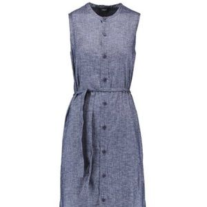 Theory Chambray Belted Shirt Dress